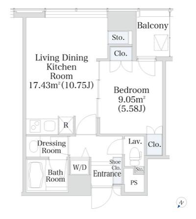 プラティーヌ新宿新都心1202号室
