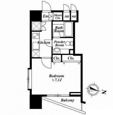 ファーストリアルタワー新宿1907号室