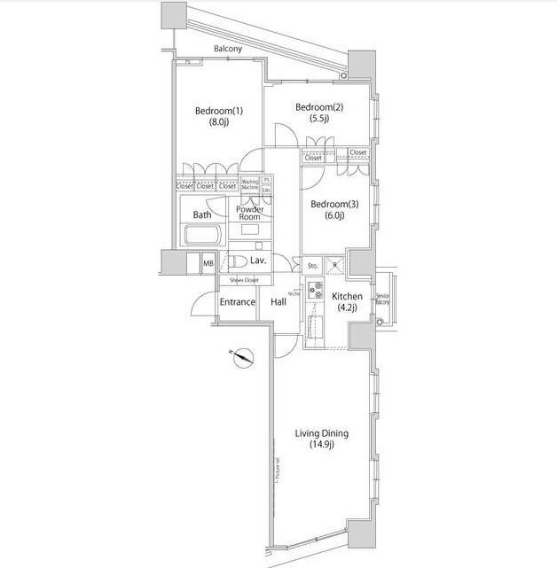 ファーストリアルタワー新宿2603号室