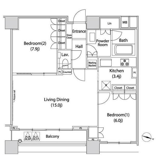 ファーストリアルタワー新宿2702号室