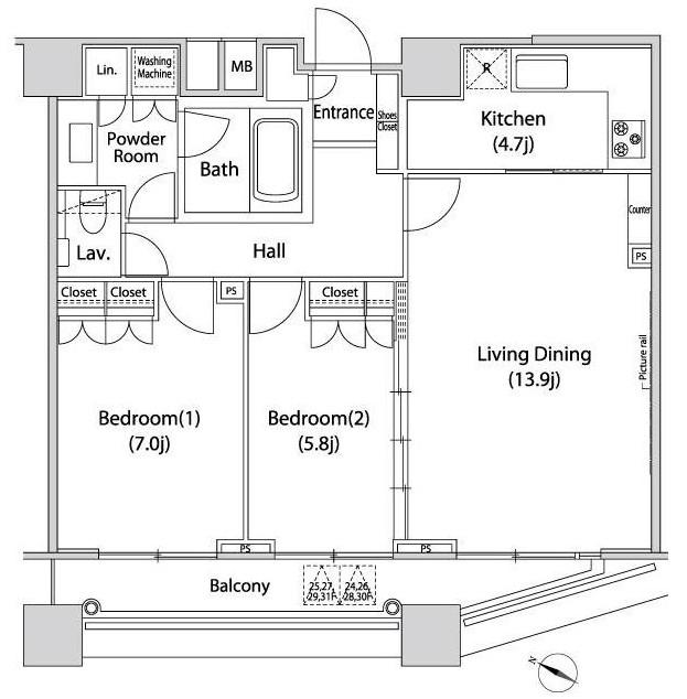 ファーストリアルタワー新宿2704号室