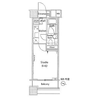 ファーストリアルタワー新宿905号室