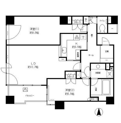 パークサイド・ウイングス1111号室