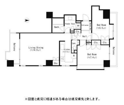 パークサイド・ウイングス1207号室