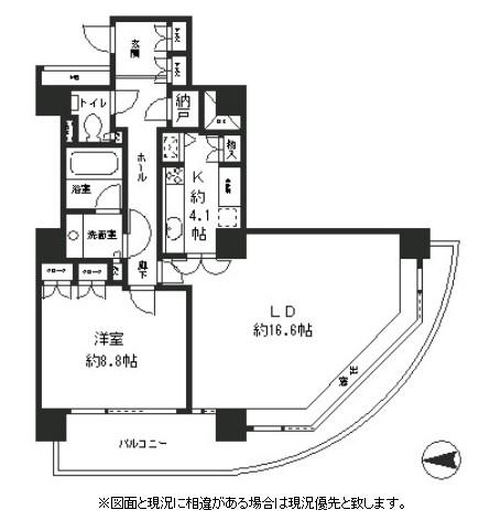 リバーポイントタワー1308号室