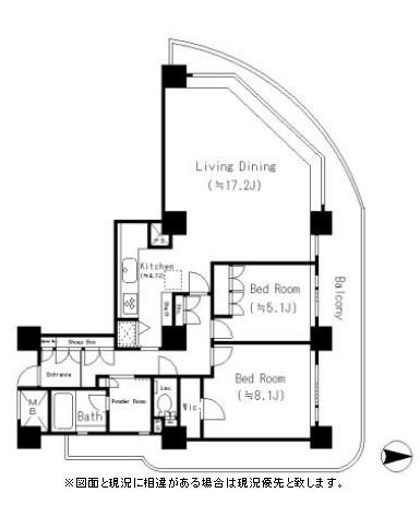 リバーポイントタワー1812号室