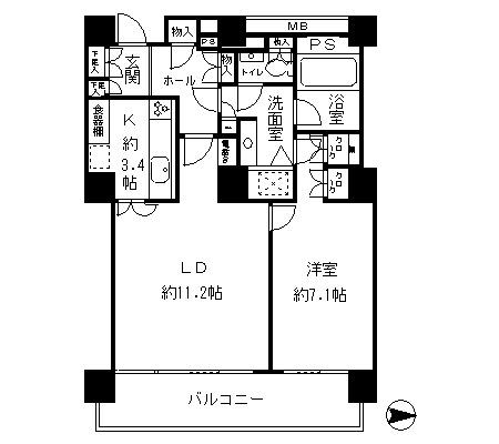 リバーポイントタワー2104号室