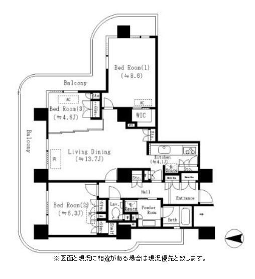 リバーポイントタワー301号室