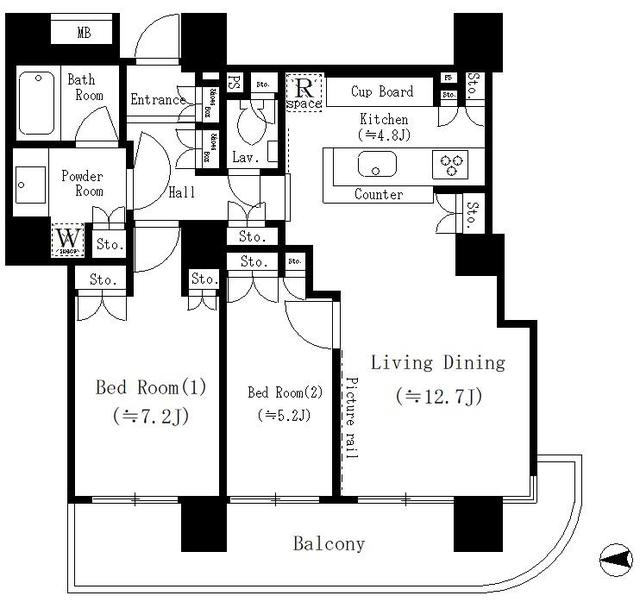 リバーポイントタワー307号室