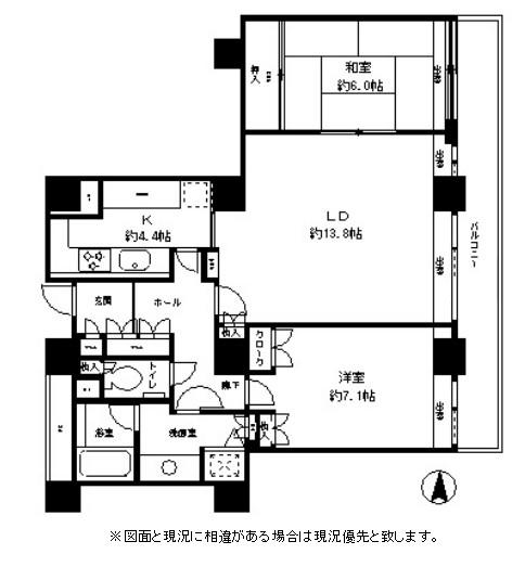 リバーポイントタワー3203号室