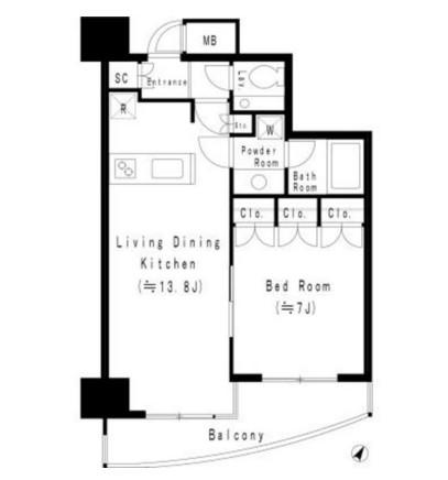 MFPR代々木タワー1303号室