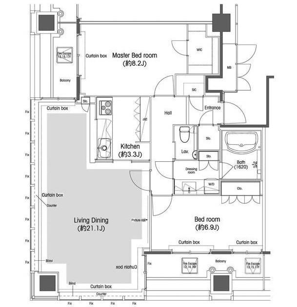 品川グラスレジデンス1305号室
