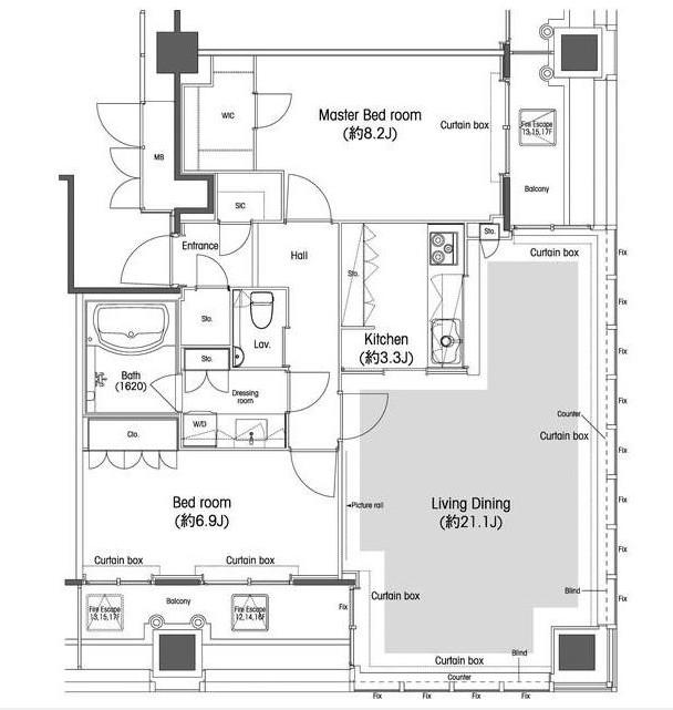 品川グラスレジデンス1308号室