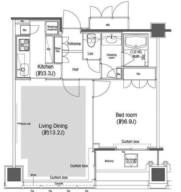 品川グラスレジデンス1405号室