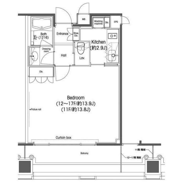 品川グラスレジデンス1708号室