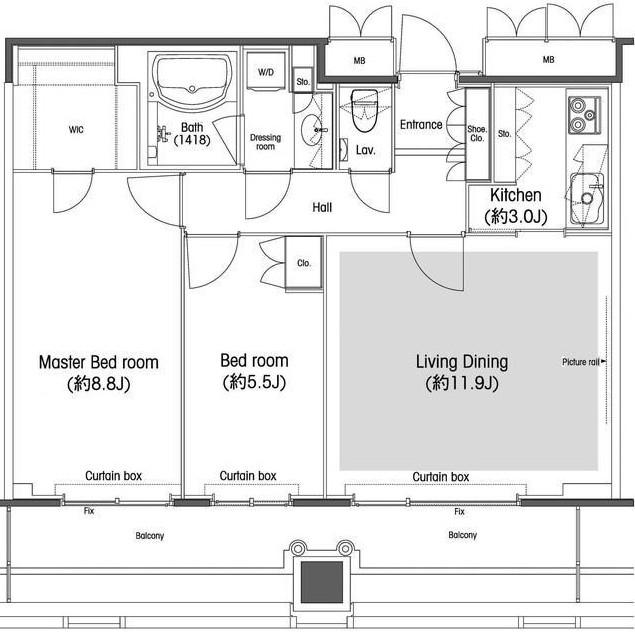 品川グラスレジデンス1802号室
