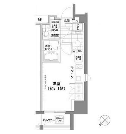 パークハビオ渋谷707号室