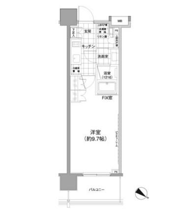 パークハビオ渋谷神山町1102号室
