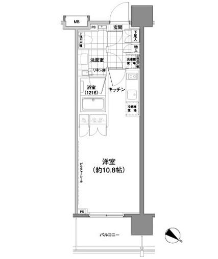 パークハビオ渋谷神山町1103号室