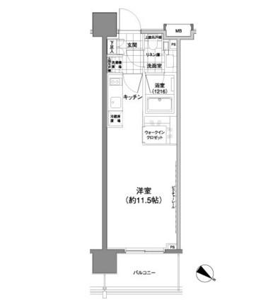パークハビオ渋谷神山町1204号室