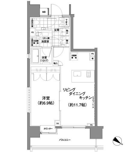 パークハビオ渋谷神山町1207号室
