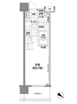 パークハビオ渋谷神山町202号室