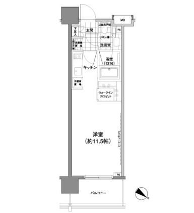 パークハビオ渋谷神山町204号室