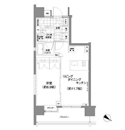 パークハビオ渋谷神山町207号室