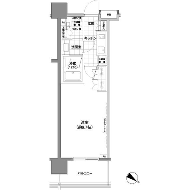 パークハビオ渋谷神山町406号室