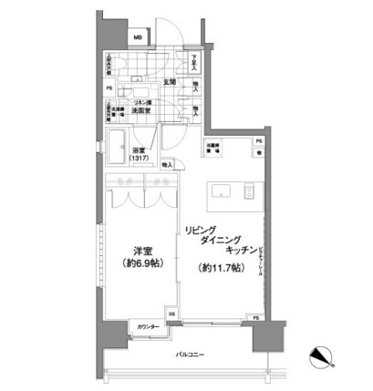 パークハビオ渋谷神山町407号室