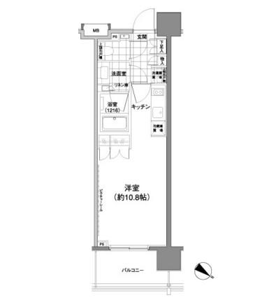 パークハビオ渋谷神山町603号室