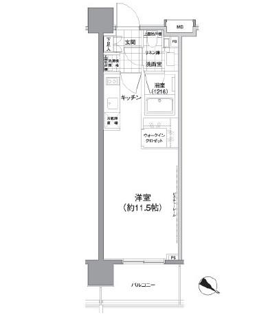 パークハビオ渋谷神山町604号室