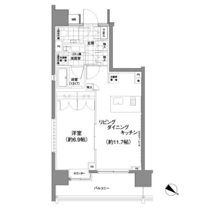 パークハビオ渋谷神山町607号室