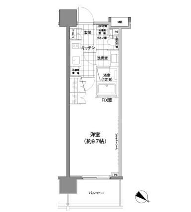 パークハビオ渋谷神山町702号室