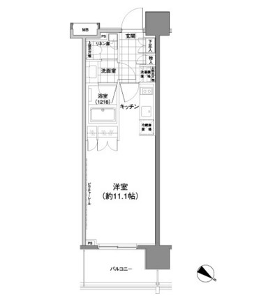 パークハビオ渋谷神山町705号室