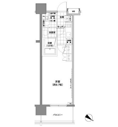 パークハビオ渋谷神山町806号室
