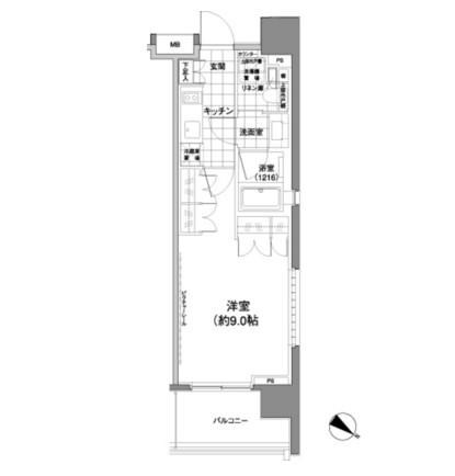 パークハビオ渋谷神山町901号室