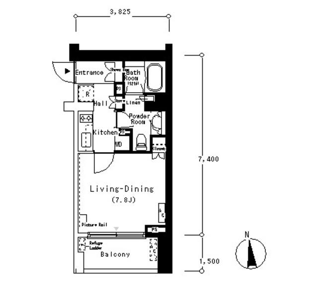 ルフォンプログレ南麻布203号室