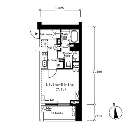 ルフォンプログレ南麻布303号室