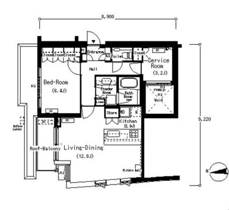 ルフォンプログレ南麻布515号室