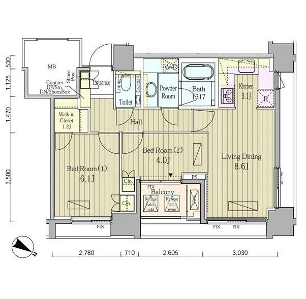 富ヶ谷スプリングス1503号室