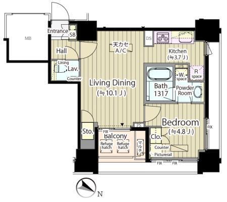 富ヶ谷スプリングス804号室