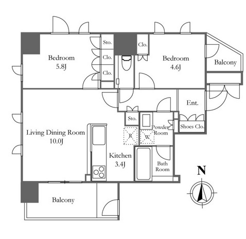 プライムアーバン新宿夏目坂タワーレジデンス2101号室