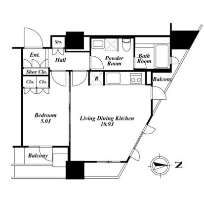 プライムアーバン新宿夏目坂タワーレジデンス2205号室