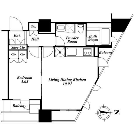 プライムアーバン新宿夏目坂タワーレジデンス2403号室