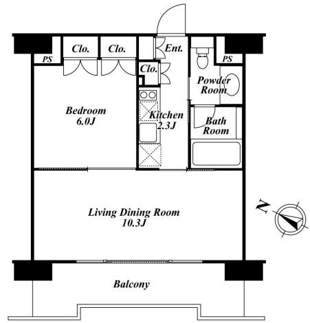 ベルファース目黒1206号室