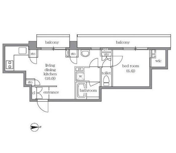 リージア代々木八幡401号室