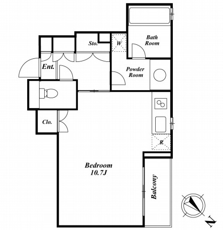 ミルーム南青山 208号室