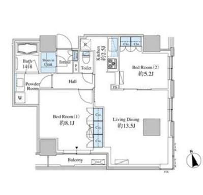 ベルファース芝浦タワー1309号室