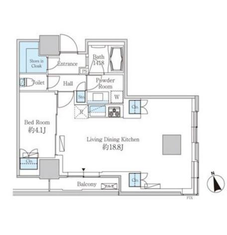 ベルファース芝浦タワー1705号室
